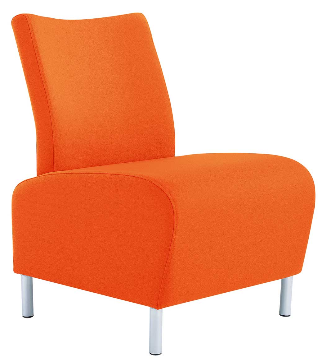 Modern Orange Chair Reception Office Chairs For Guest