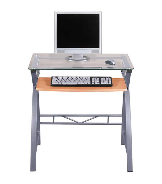 ZLine Glass Computer Desk for Home Office