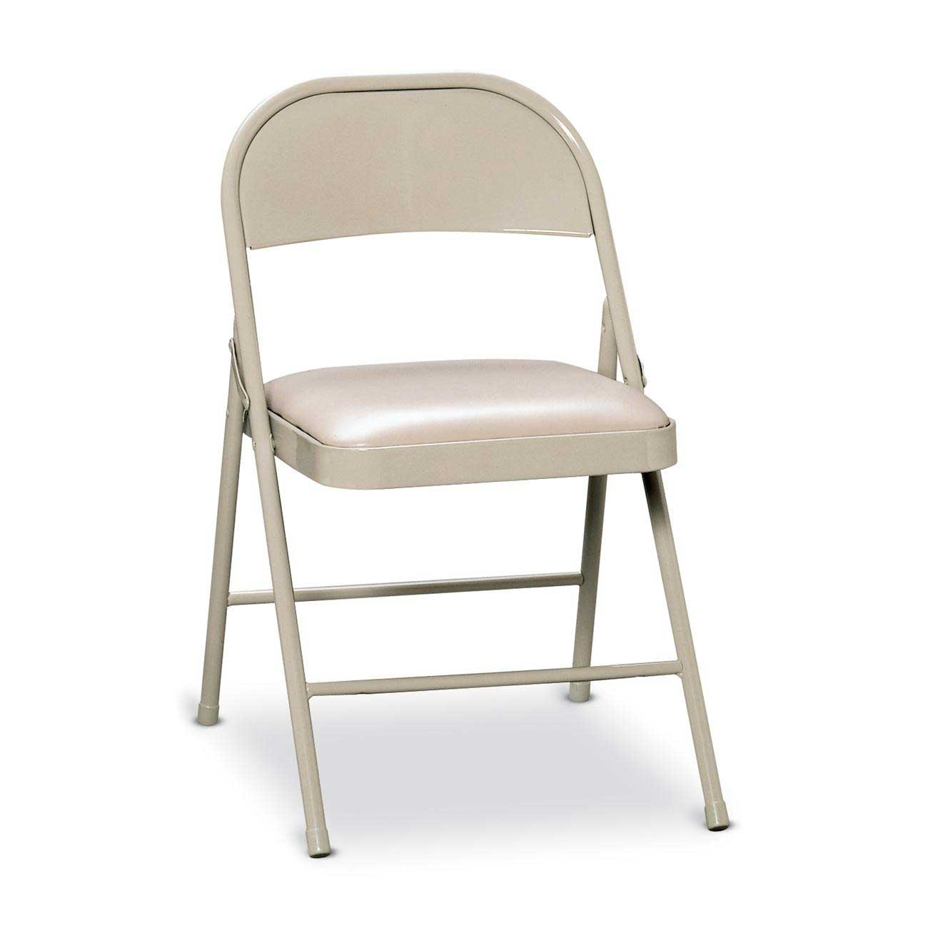 White Metal Chair Folding Padded Chairs Style And Design