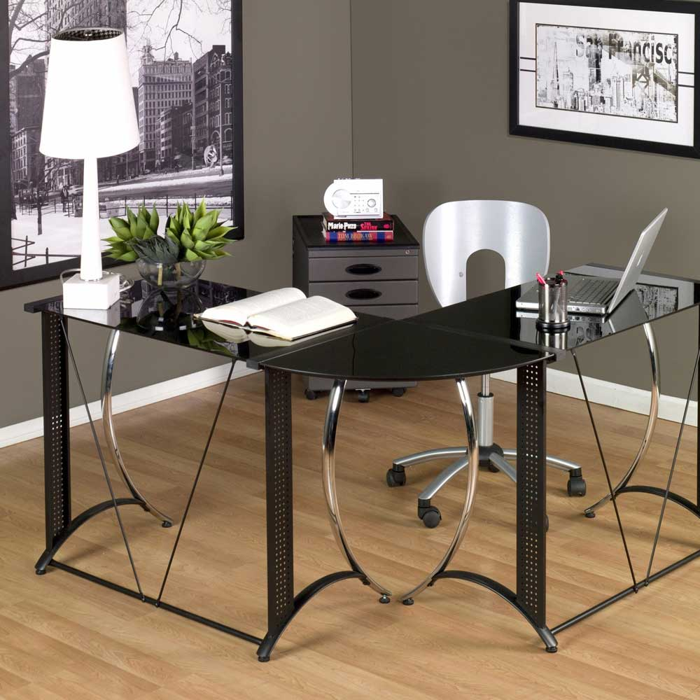 Small Glass Desk for Small Home Office Space