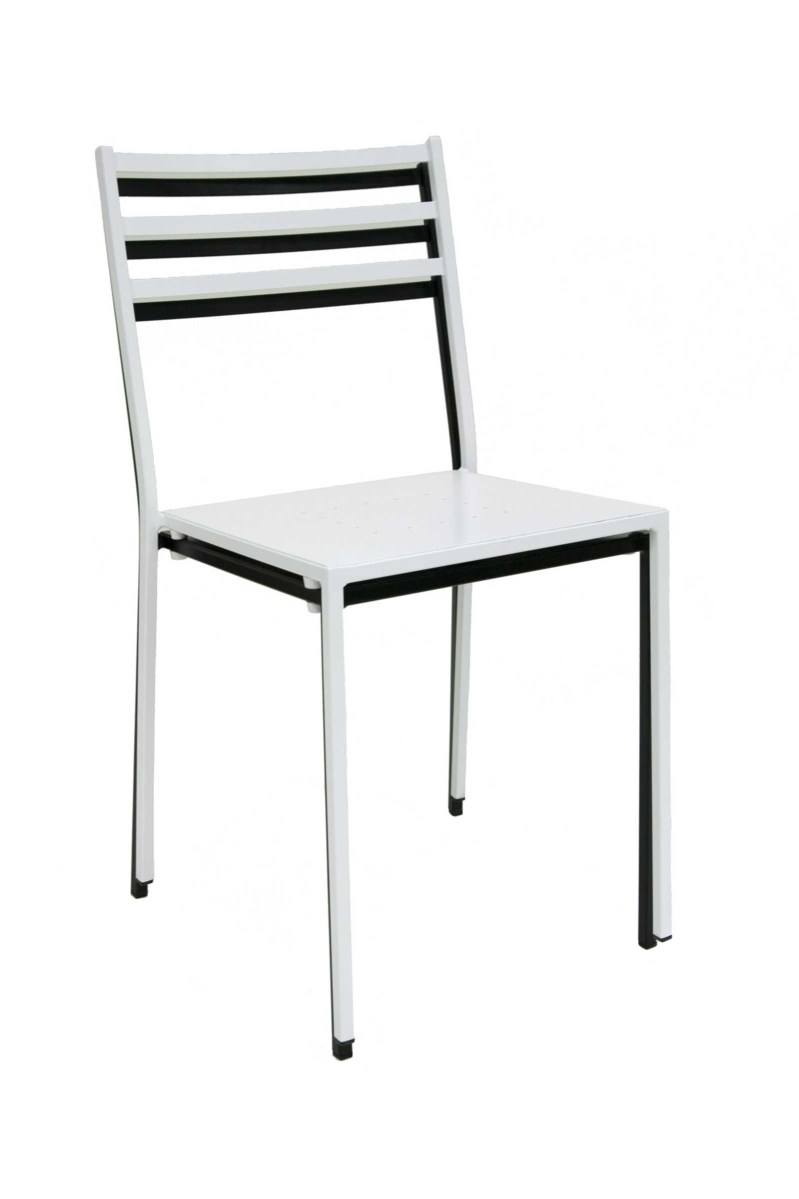 White Metal Chair Metal Stacking Chairs For Aesthetic Value
