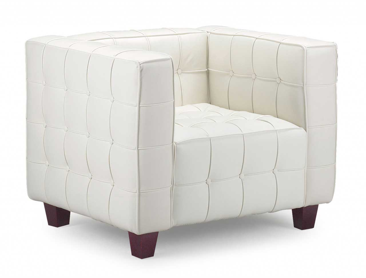 White Modern Chair Armchair Leather As Classic Office Equipment