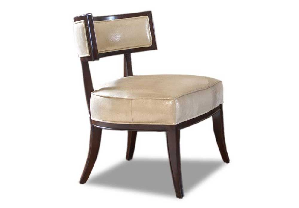 armless chair office cover leather for home lexington solid wood white