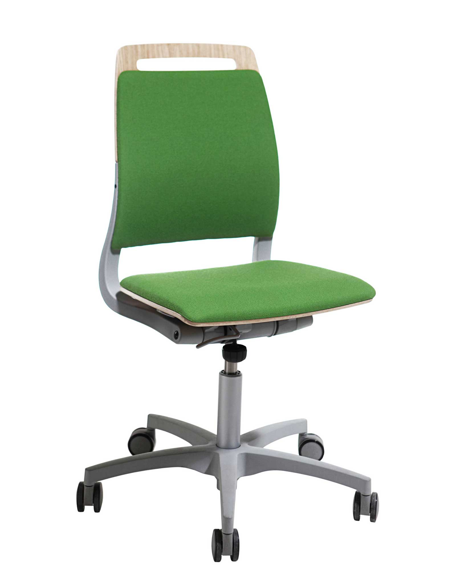 Armless Office Chairs With Wheels Green Office Chairs For Our Environment