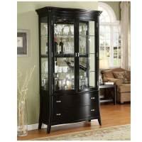 Black Corner Curio Cabinet for Home Office