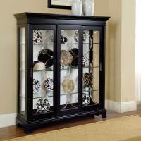 Black Corner Curio Cabinet for Home Office