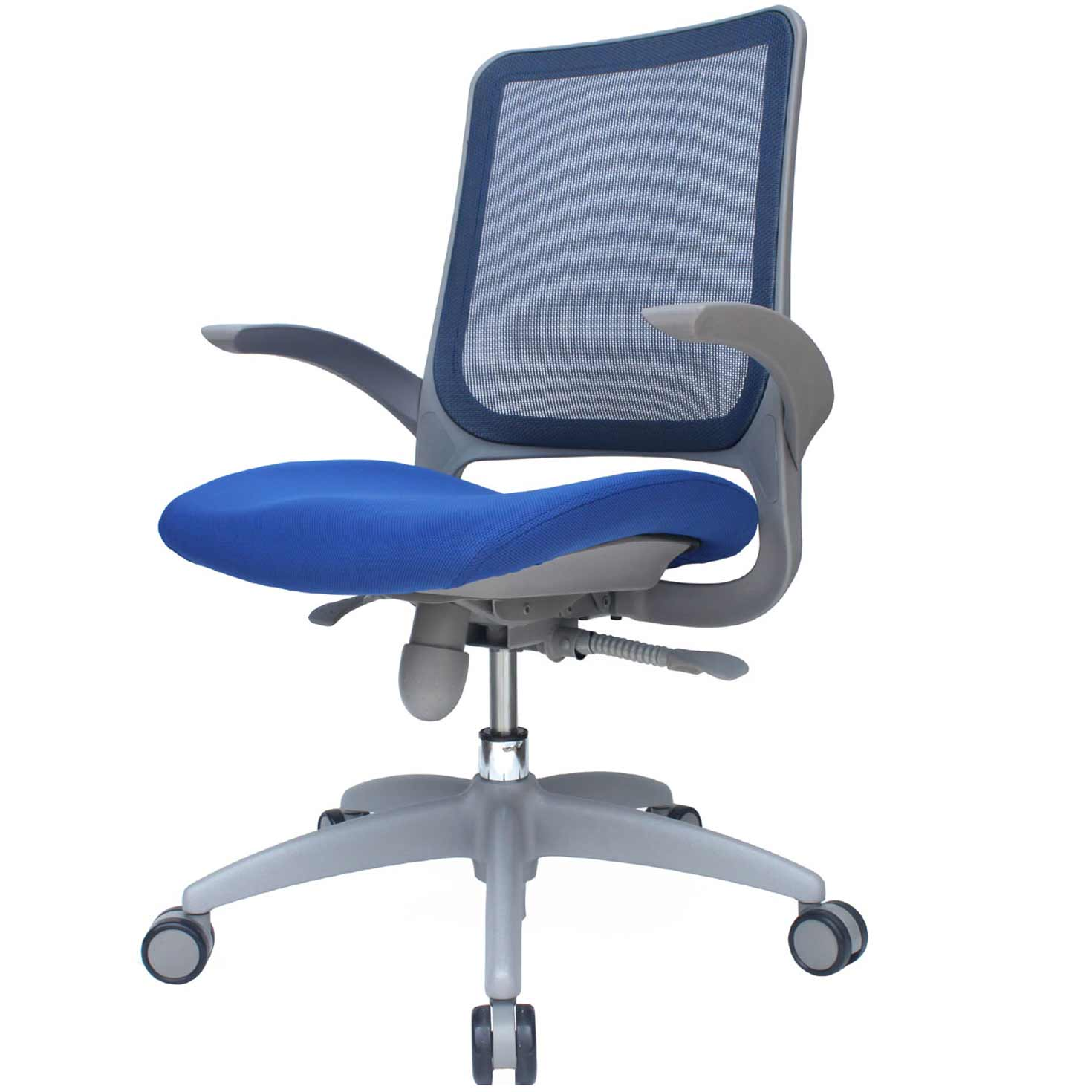 blue office chair pink side as nice interiors