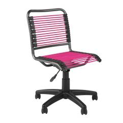 Hair On Hide Office Chair Posture Seat Armless Task Chairs For Home