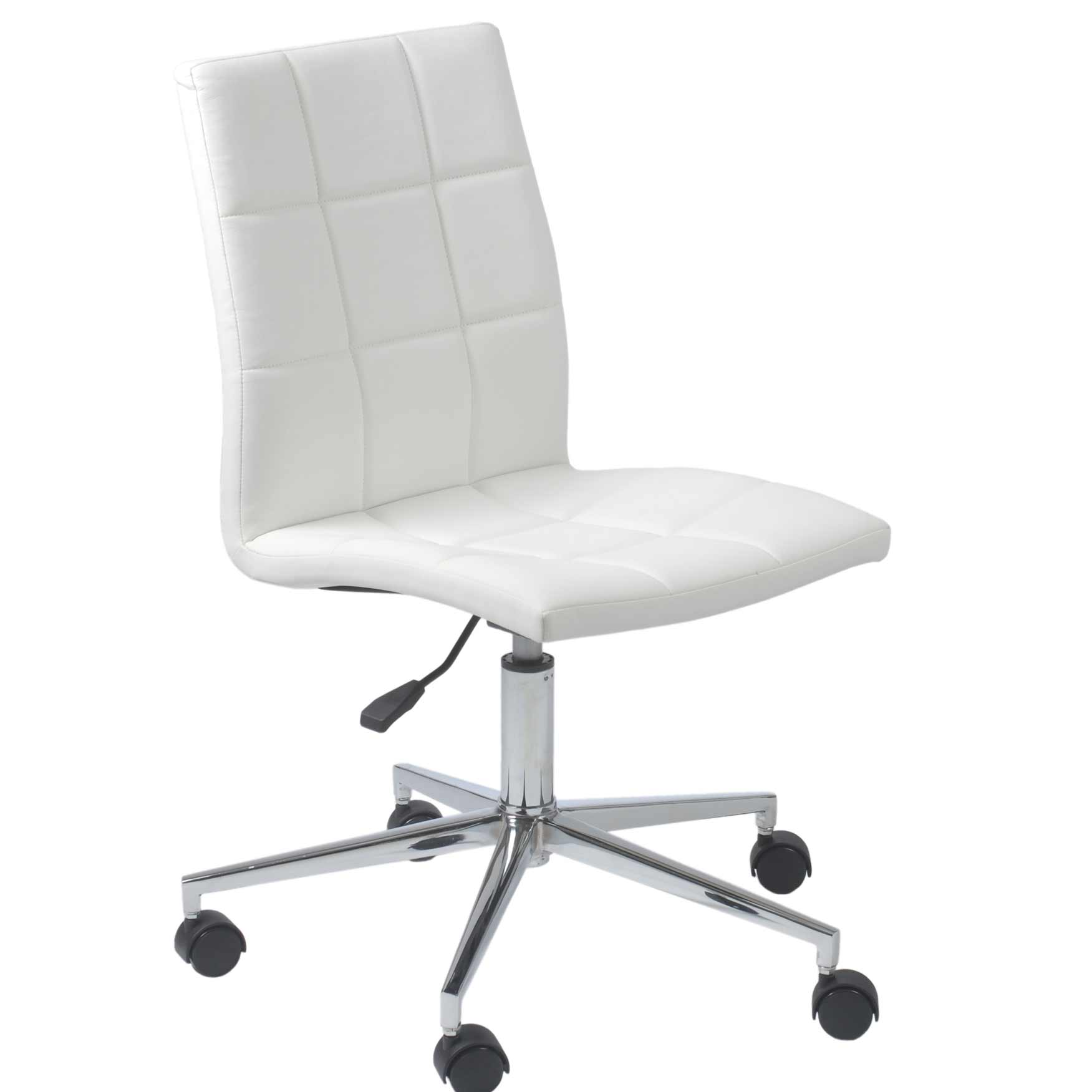 Armless Desk Chairs Leather Armless Chair Office Furniture