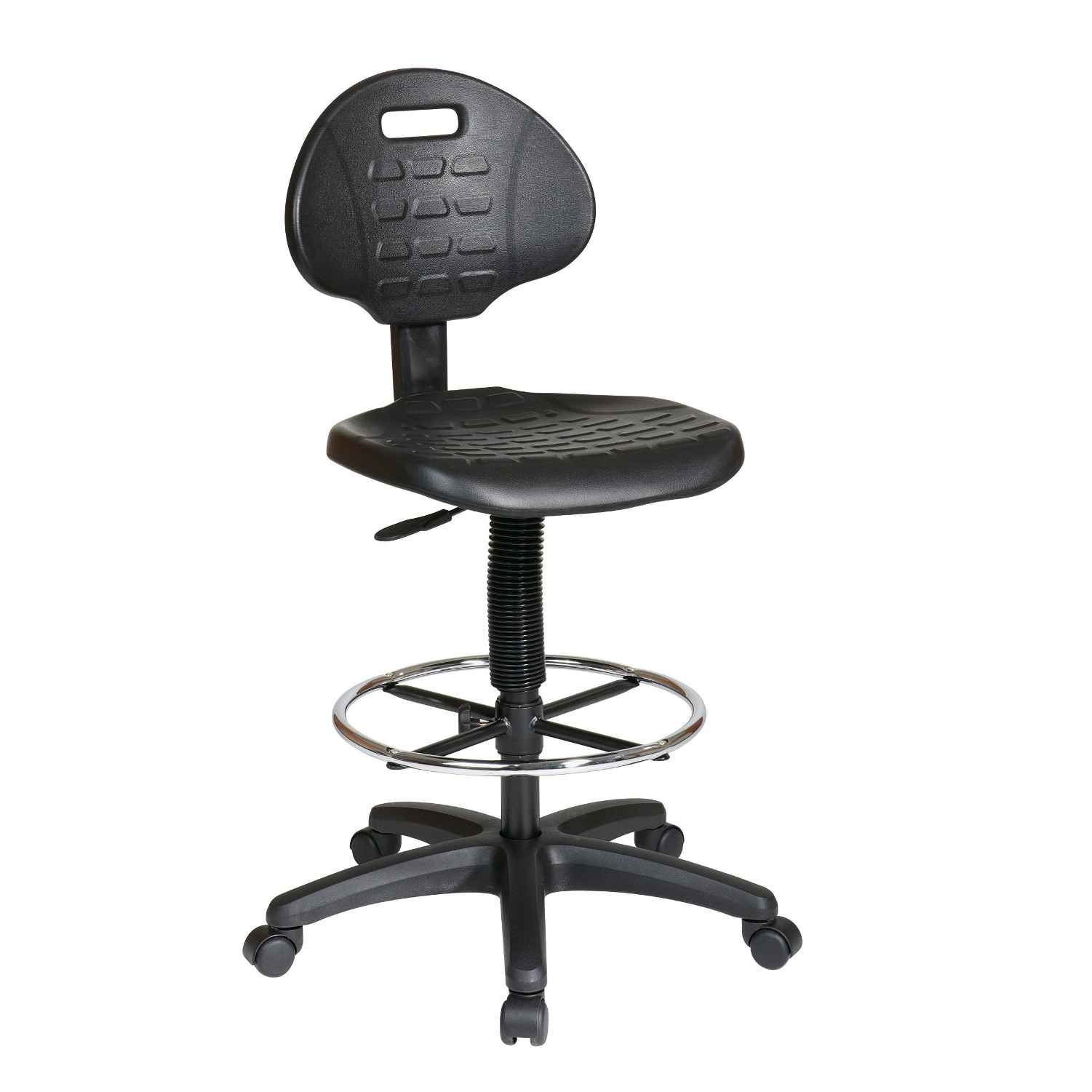 drafting chairs office chair mesh seat leather stool for extra comfort