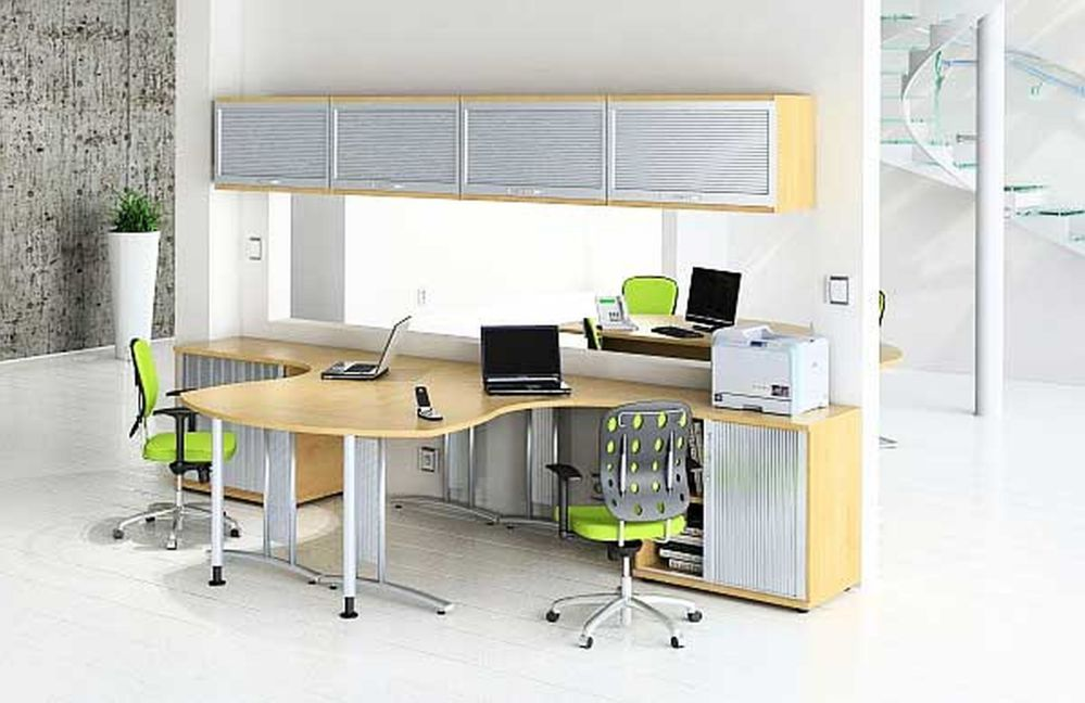 Double Desk Home Office