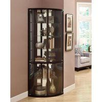 The Elegant Black Corner Curio Cabinet with Light