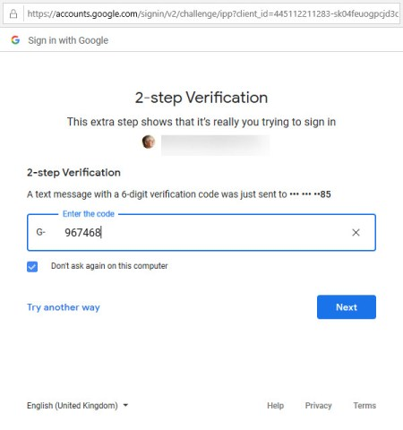 Completing the verification process to allow OWA to access Google Drive