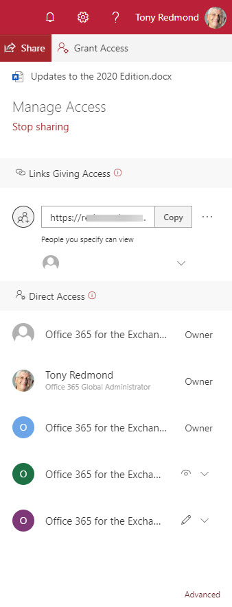 SharePoint Online Manage Access