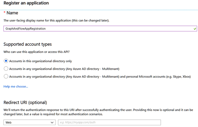 Registering an Azure AD app