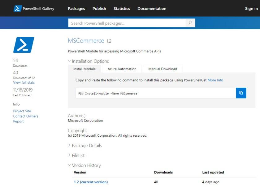 MSCommerce PowerShell Module