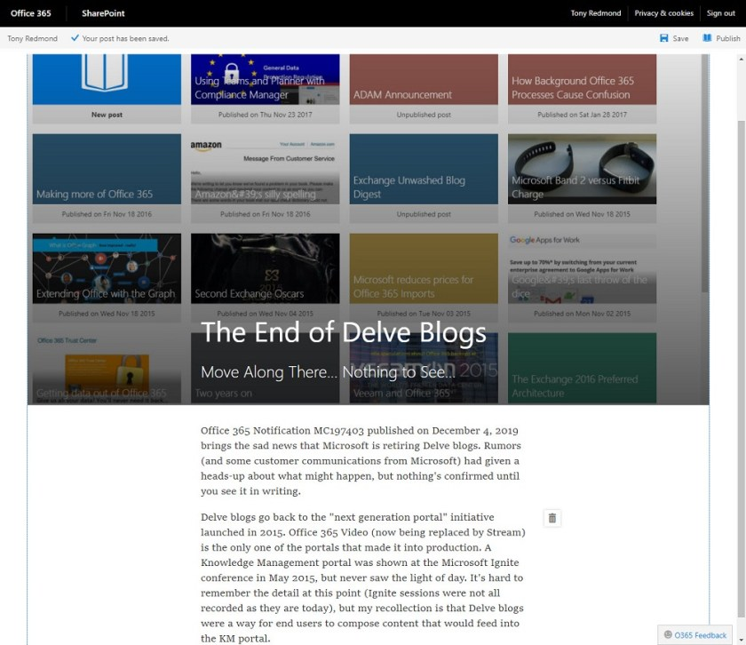 Writing a Delve blog post