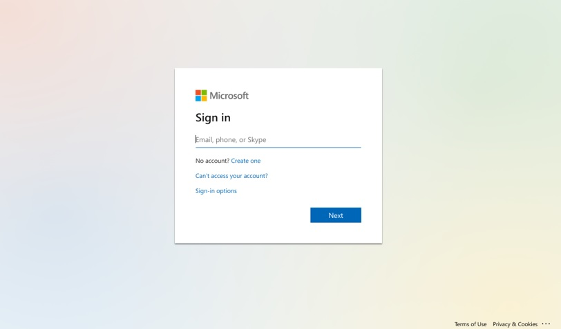 The new slimmed-down Azure Active Directory sign-in