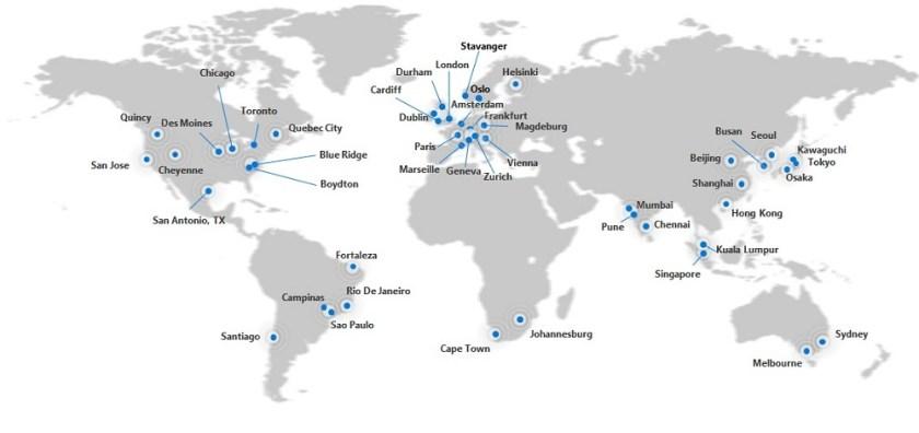 Office 365 datacenter regions