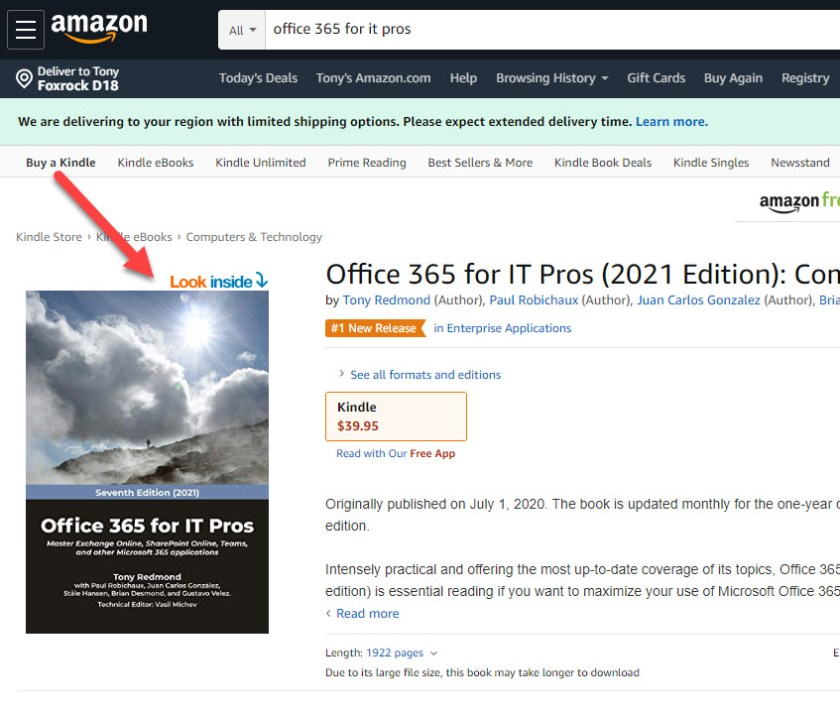 Look Inside Office 365 for IT Pros on Amazon.com