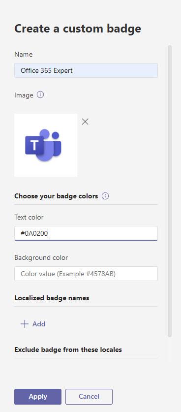 Adding details for a new custom badge