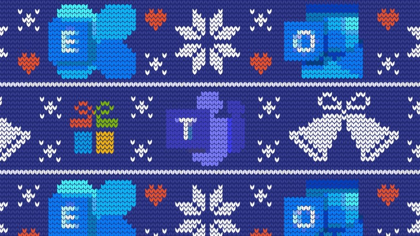 Christmas holiday background for Teams Exchange and Outlook