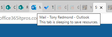 Edge sleeping tabs