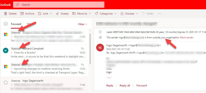 OWA tags external messages