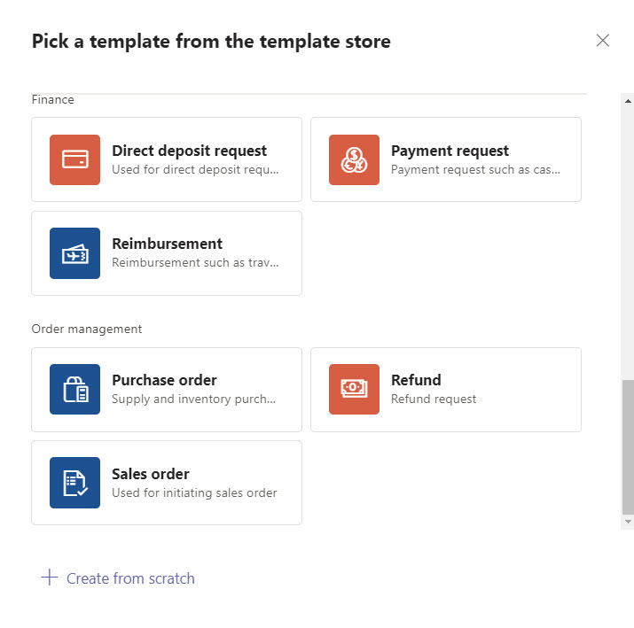 Teams sample approval templates