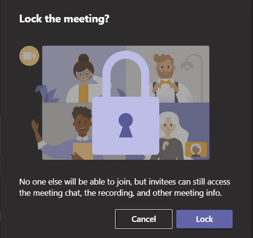 Just be sure before you lock a Teams meeting...