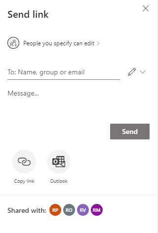 Sharing information for a site connected to a Microsoft 365 group