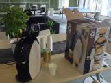 フリードリンクでコーヒーを提供し始めました。本体は五十嵐さんに、中の豆は後藤さんにいただきました。ありがとうございます!