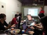 コワーキングスペース7Fのスタッフ研修