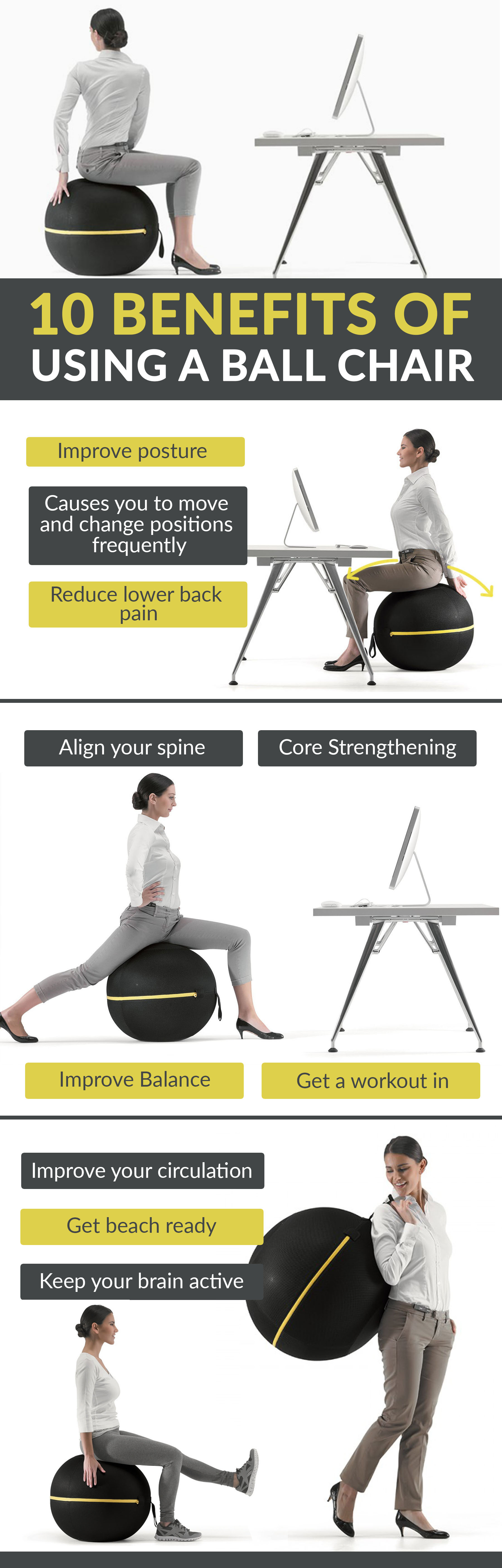 Pilates Ball Chair 10 Benefits Of Using A Ball Chair