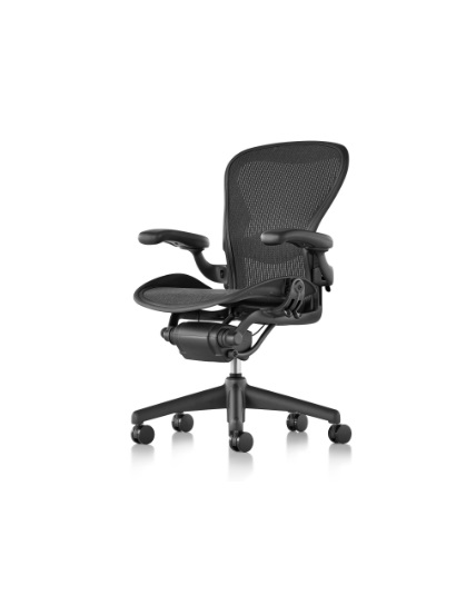 office chair with adjustable arms white outdoor cushions herman miller aeron size b all features fully lumbar support