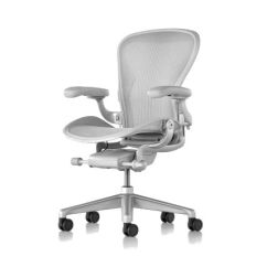 Herman Miller Chair Sizes Posture Swivel Aeron Remastered Size B Mineral Fully