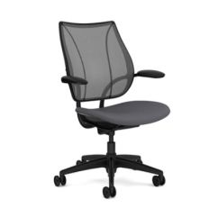 Humanscale Liberty Chair Review Black Dining Room Table And Chairs Chair, Adjustable Arms, Seat Depth, Black, Gray – Office @ Work