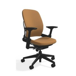 Steelcase Leap Chair Desk For Gaming Brown Leather All Features 4 Way Adjustable