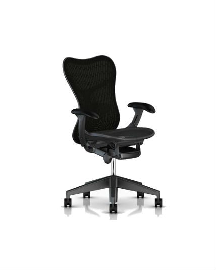 herman miller mirra 2 chair review babies r us rocking chairs black butterfly back adjustable arms full