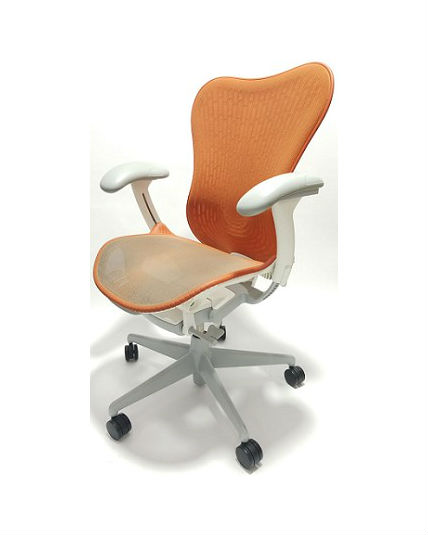 knoll rpm chair kitchen covers cheap herman miller mirra 2 chair, orange butterfly back, all features, adjustable lumbar support ...