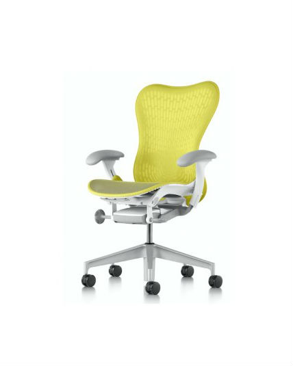 knoll rpm chair desk covers walmart discount herman miller mirra chair, lime tri-flex back, all features, adjustable lumbar support ...