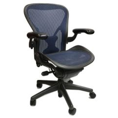 Posturefit Chair Zero Gravity Pedicure Herman Miller Aeron Cobalt Blue Size B All Features