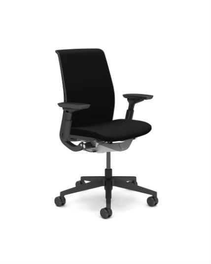 steelcase jersey chair review spa massage think fabric 4 way arms lumbar support v2