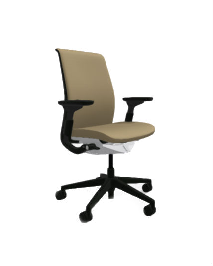 office chair gold floor mat steelcase think all features 4 way arms adjustable