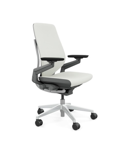 steelcase gesture chair photo frame leather all features 4 way arms white