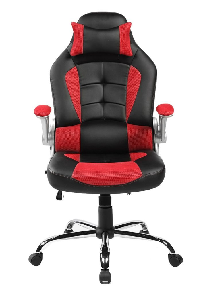 lcs gaming chair distressed leather dining chairs uk pc buyer s guide officechairexpert com merax high back pu and mesh fabric upholstered face for easy cleaning