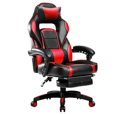 comfortable office chairs for gaming cacoon hanging chair 10 best with footrest gamers [2018 selection] - officechairist.com