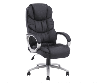 desk chair under 100 chicco highchair polly cover top 6 best office the definitive guide 2018 black pu leather is price made of metal frame and plastic arms with upholstery