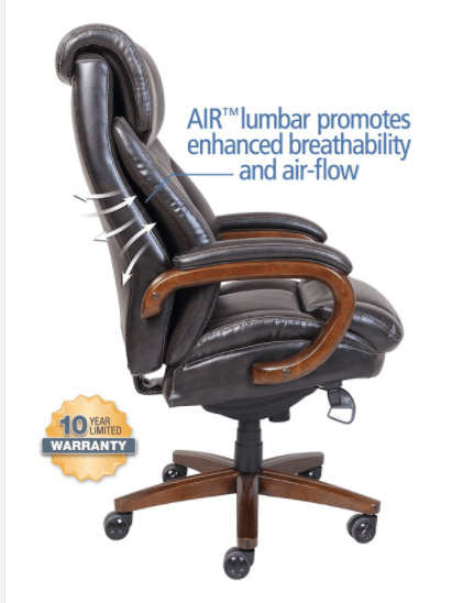 la z boy big tall executive leather office chair black butterfly covers vintage 10 most comfortable chairs alternatives jan 2019 only a select few of the desk on this list come with air lumbar enhanced breathability design there s great and easy way to find out