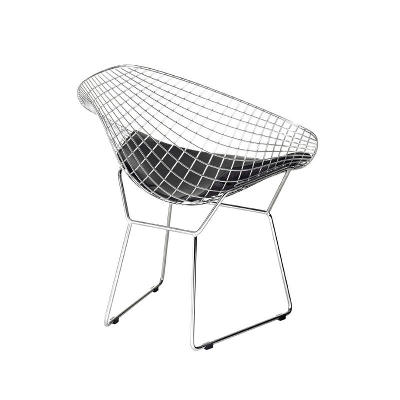 Bertoian Diamond Lounge Chromed Steel Wire Frame Lounge
